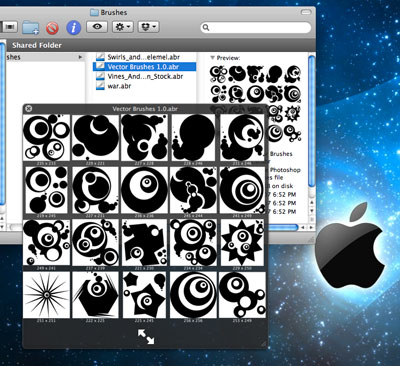 Preview your Photoshop Brushes with QuickLook